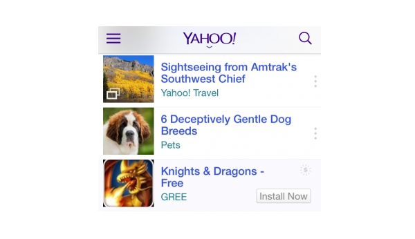 yahoo mobile apps ad