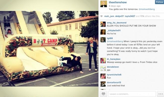 instagram ellen show