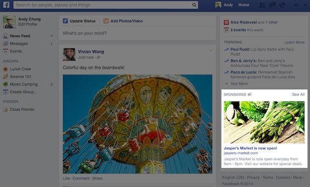 new facebook ads