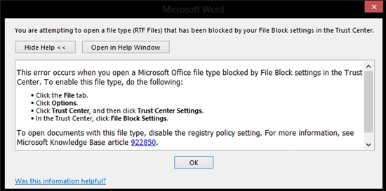 rtf file microsoft fix