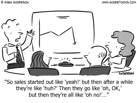 slang sales meeting cartoon