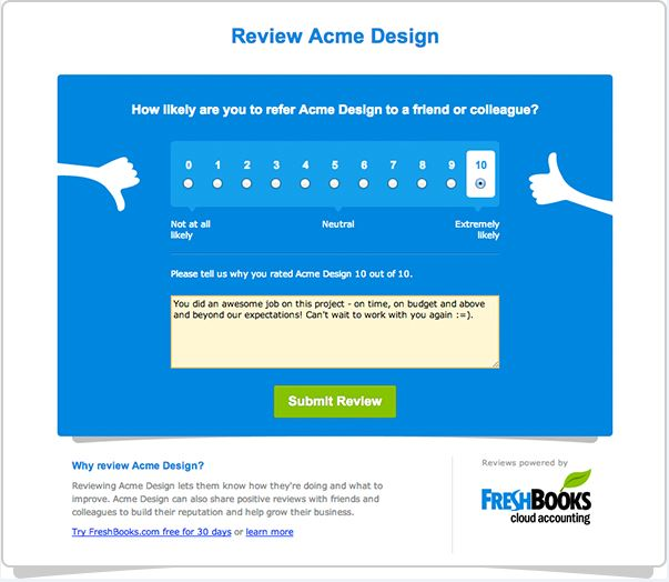 freshbooks feedback