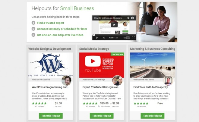 Google Helpouts for Small Businesses