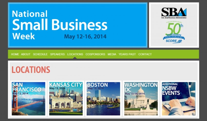 National Small Business Week 2014 activities