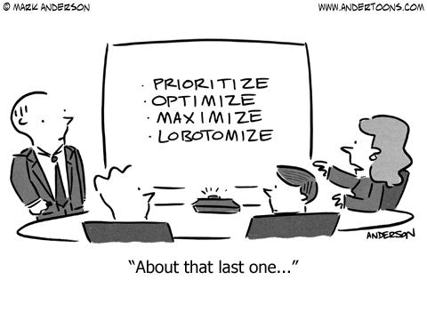 prioritize cartoon business