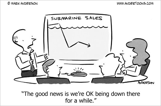 underwater in business cartoon2