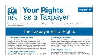 IRS taxpayer bill of rights 2014