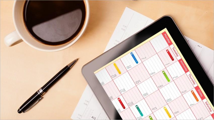 forward facing editorial calendar