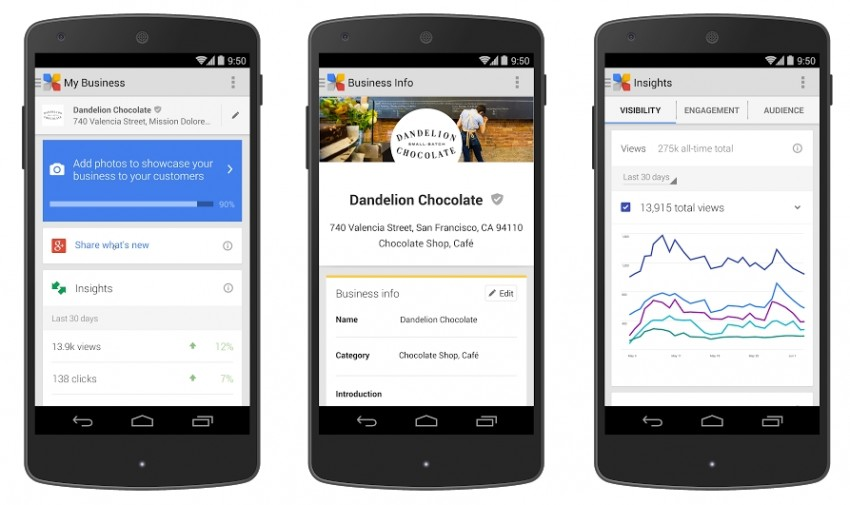 Google my business Android mobile app