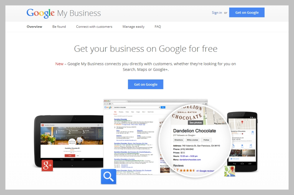 google account manage my business
