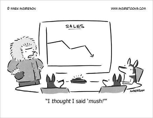 mush dogs cartoon business