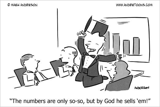 selling it cartoon
