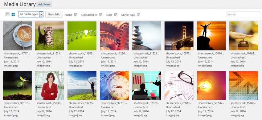 Wordpress 4.0 Media Library