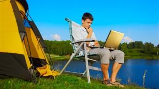 computer camping