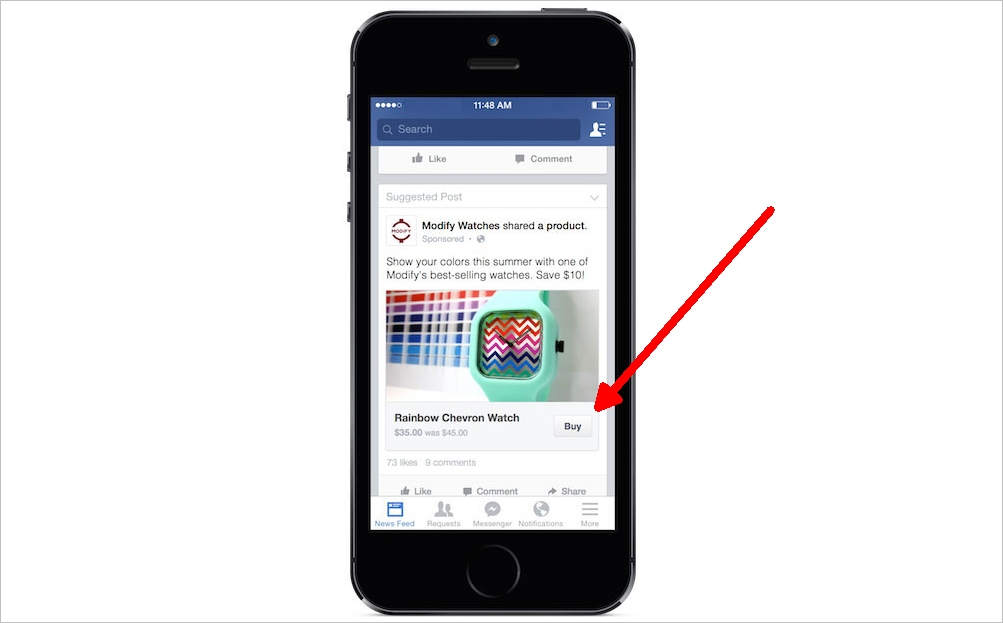 New Facebook Buy Button is Currently in Testing