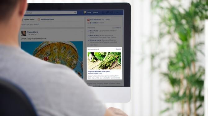 Facebooks new ad column