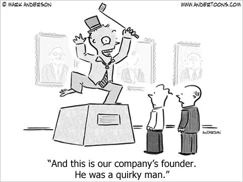 company founder cartoon