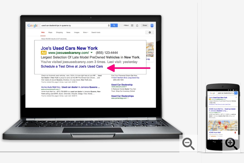 Google dynamic sitelinks -  AdWords