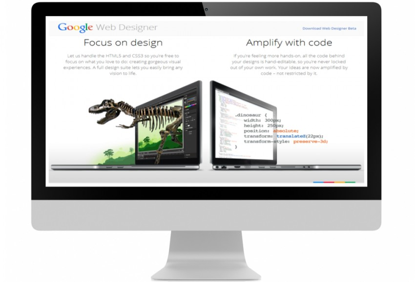 Google Web designer HTML5 advertisement tool