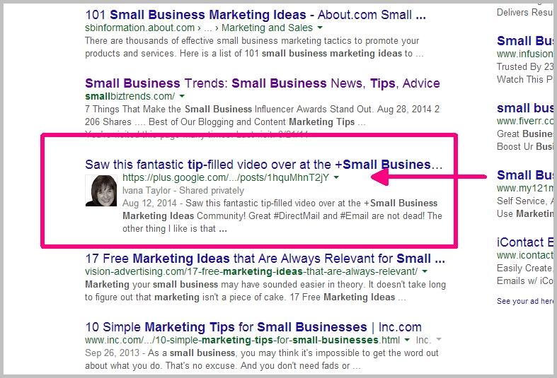 Google authorship and Google+