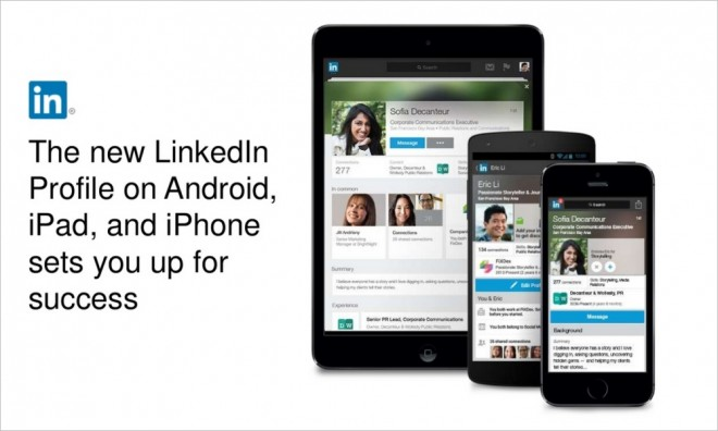New LinkedIn Mobile Profiles