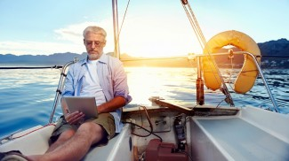 reading on boat