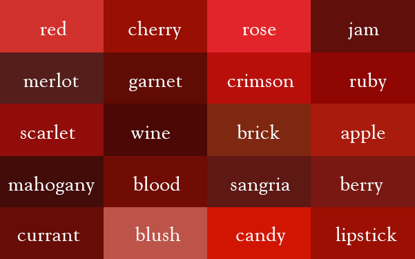 color thesaurus 5