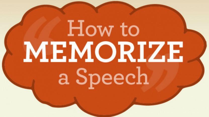 memorize a speech