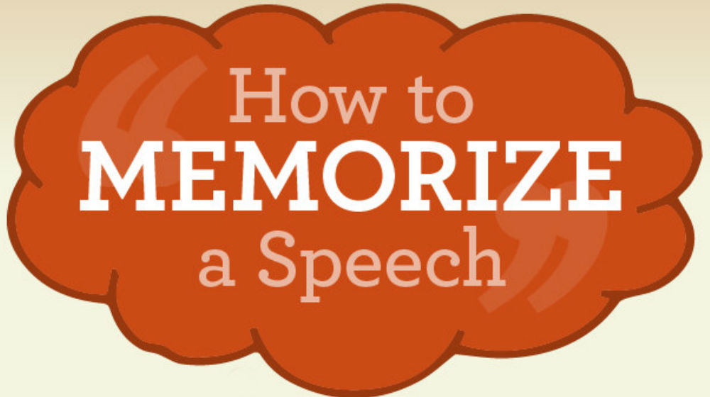 Learn How to Memorize a Speech Successfully