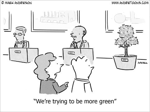 eco green business cartoon