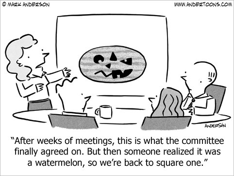 halloween business cartoon