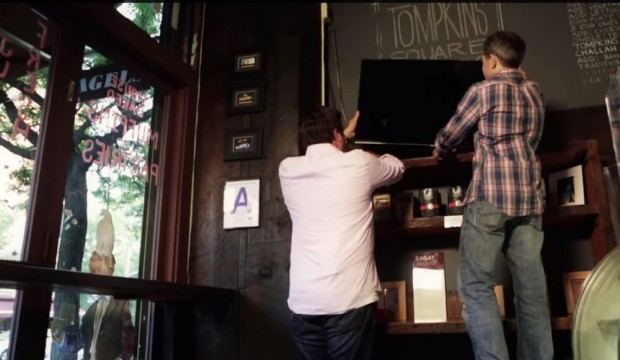 Samsung digital signs TV DIY installation