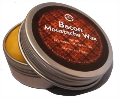 bacon moustache wax
