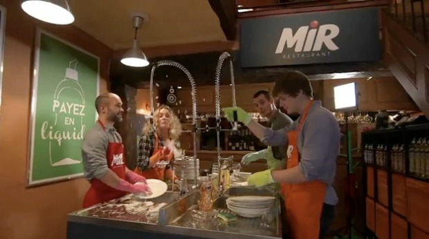 Mir Restaurant Asks Customers to Wash Dishes in Exchange for Food