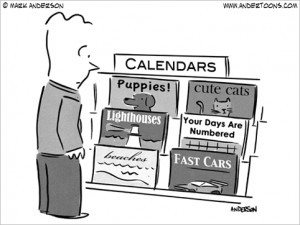 your days are numbered calendar cartoon