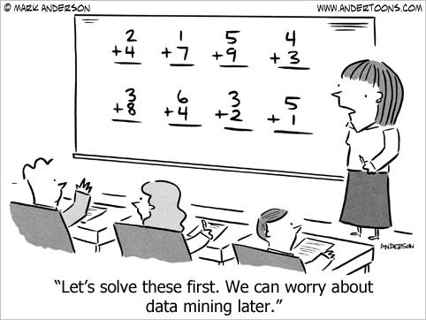data mining cartoon business