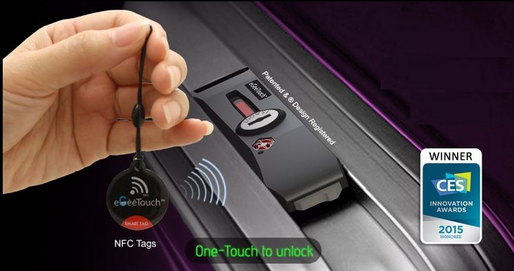 eGeeTouch Smart Luggage Lock Unveiled at CES 2015 - Small Business Trends