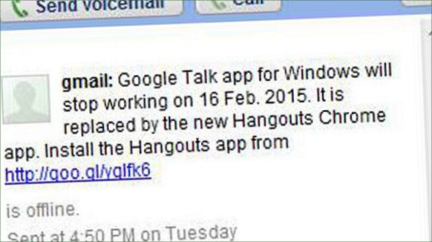 google talk shutting down