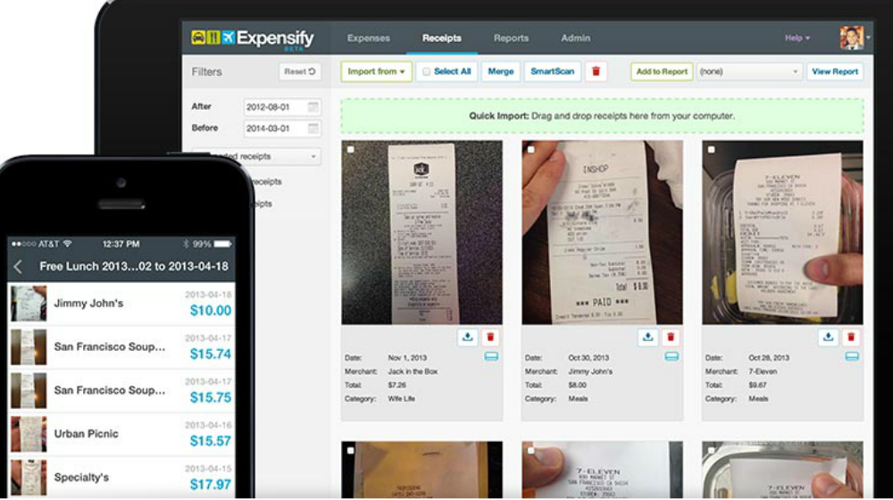 Expensify SmartScan Makes Paper Receipts History - Small Business Trends