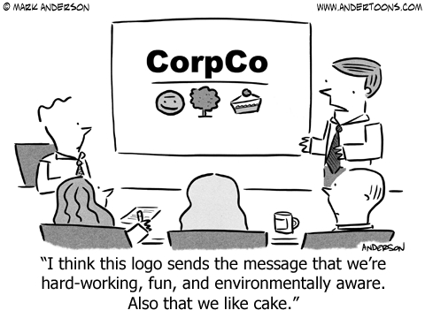 personal branding business cartoon