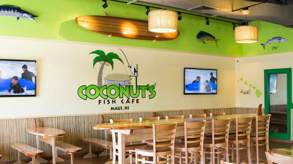 Retired entrepreneur launches coconut 39 s fish cafe in paradise for Coconut s fish cafe