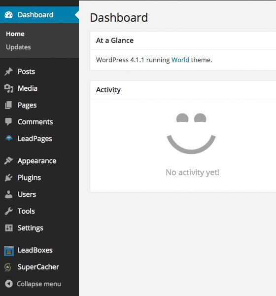 Your WordPress Dashboard