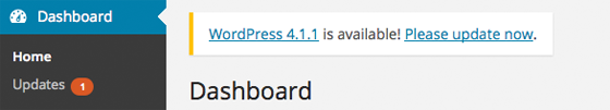 WordPress is ready to be updated