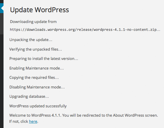 During a WordPress Update