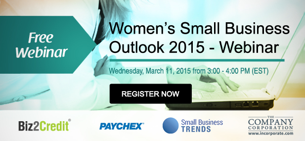 Biz2Credit Webinar Examines Women's Small Business Outlook