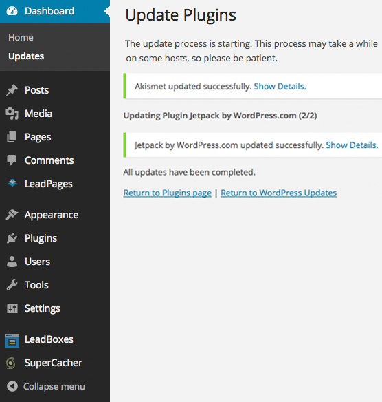 how do i update wordpress plugins