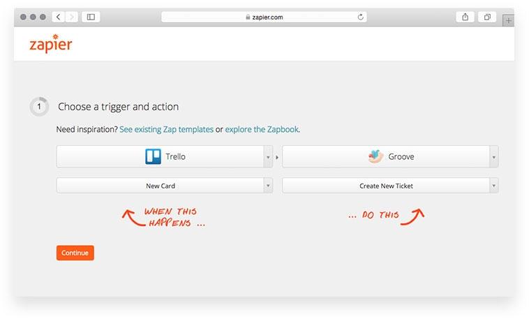 Zapier embedded Zaps integration