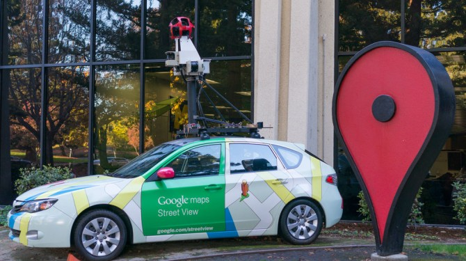 google map car