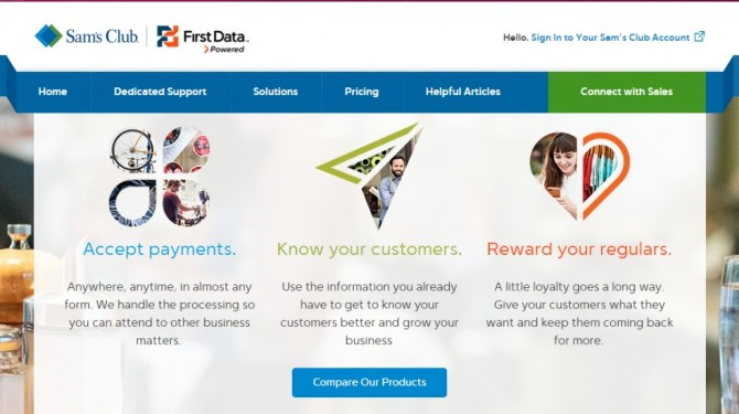 sams club first data