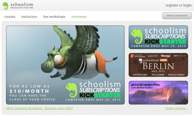 art education schoolism kickstarter